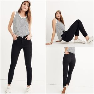 """MADEWELL 9"""" Mid Rise Skinny Jeans Lunar Wash - 32"""